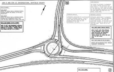 Public gets first look at Highway 2/13 roundabout design
