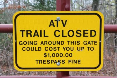 ATV trail closed