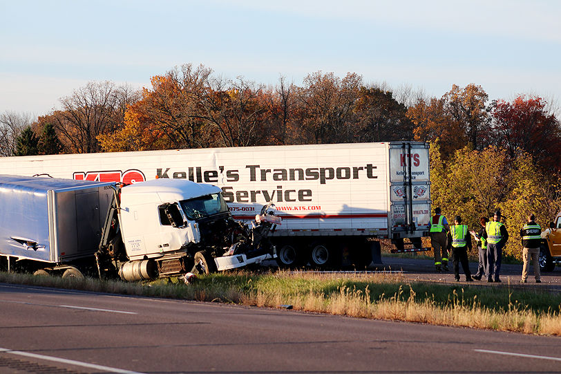 Updated: Semis crash on Hwy  53 near Haugen | Free | apg-wi com