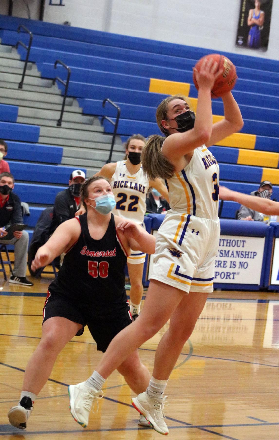 Rice Lake girls basketball vs. Somerset 2-18-21