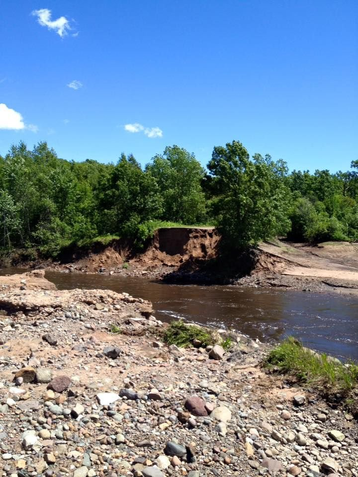 Colton Dam and roadway are gone