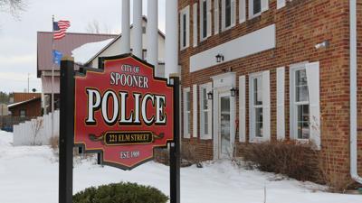 Spooner Police Department in winter