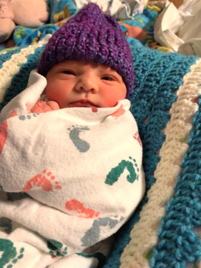 Purple hat baby