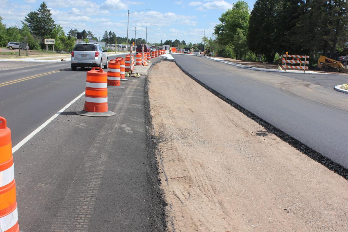 Eastbound lanes are being paved