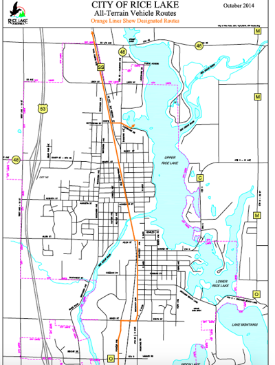 Rice Lake ATV routes