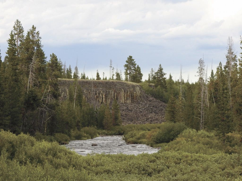 8-16-19 Sheepeater Cliffs overlook the scenic Gardner River in Yellowstone National Park photo by Emily Stone.jpg