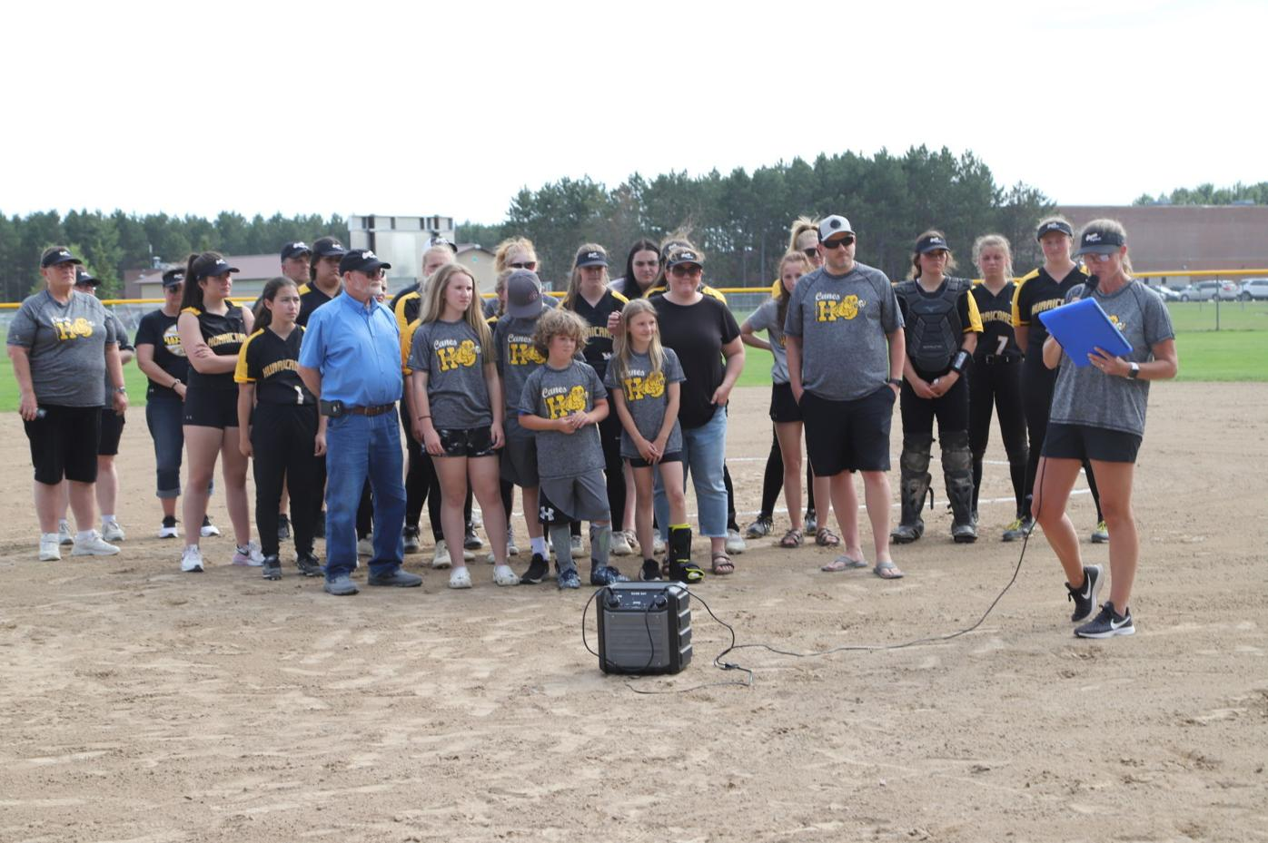 Softball field dedication