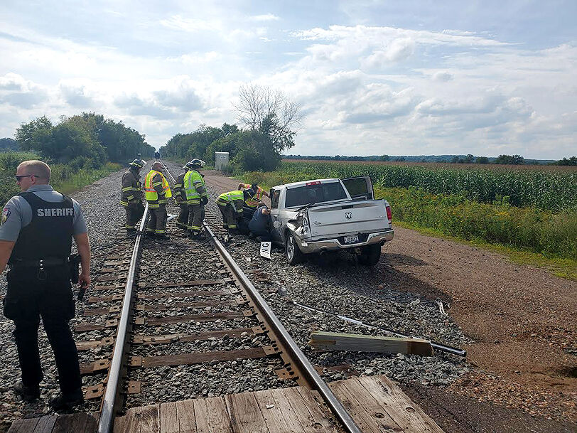 truck train crash