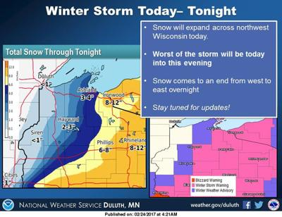 Heaviest snow will track east of region Free