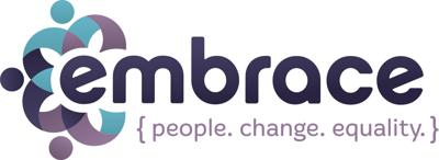 Embrace logo, domestic and sexual violence