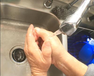 Flu season-washing hands