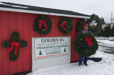 Golden K Club sells wreaths, trees and more