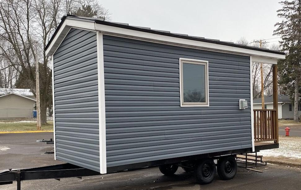RLHS students build tiny house for Homes of Hope
