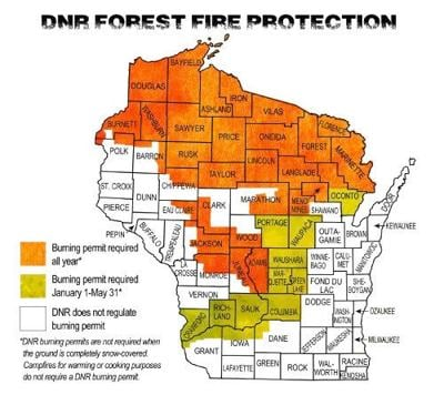 DNR forest fire protection map