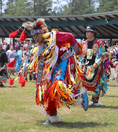 Dancing at the pow wow