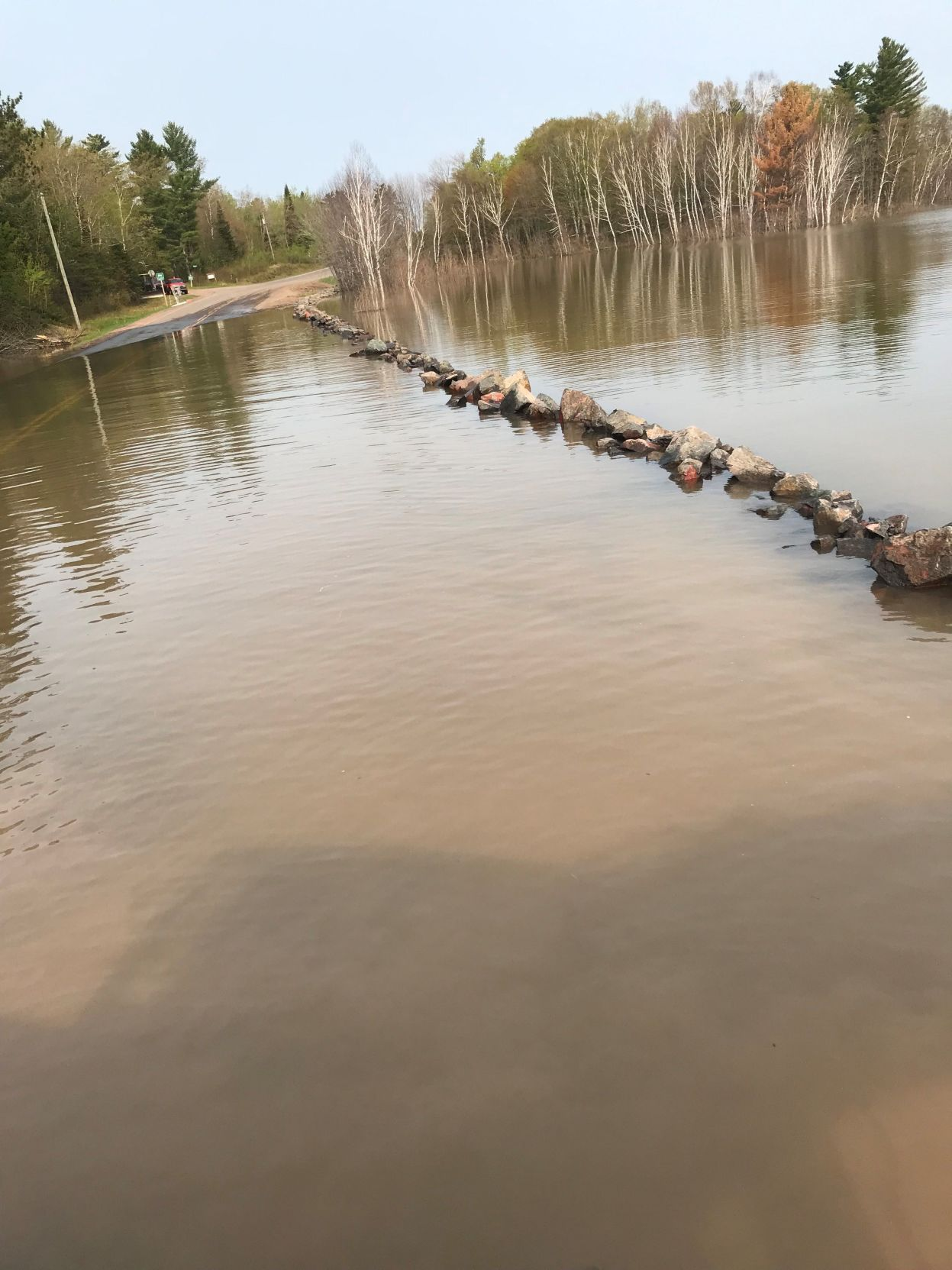 Flooding on County Highway N in Bayfield County
