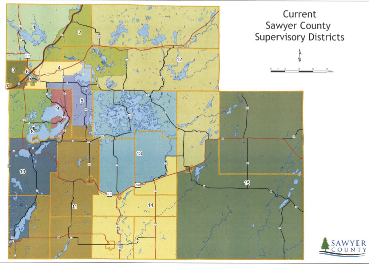 Current Sawyer County District Map