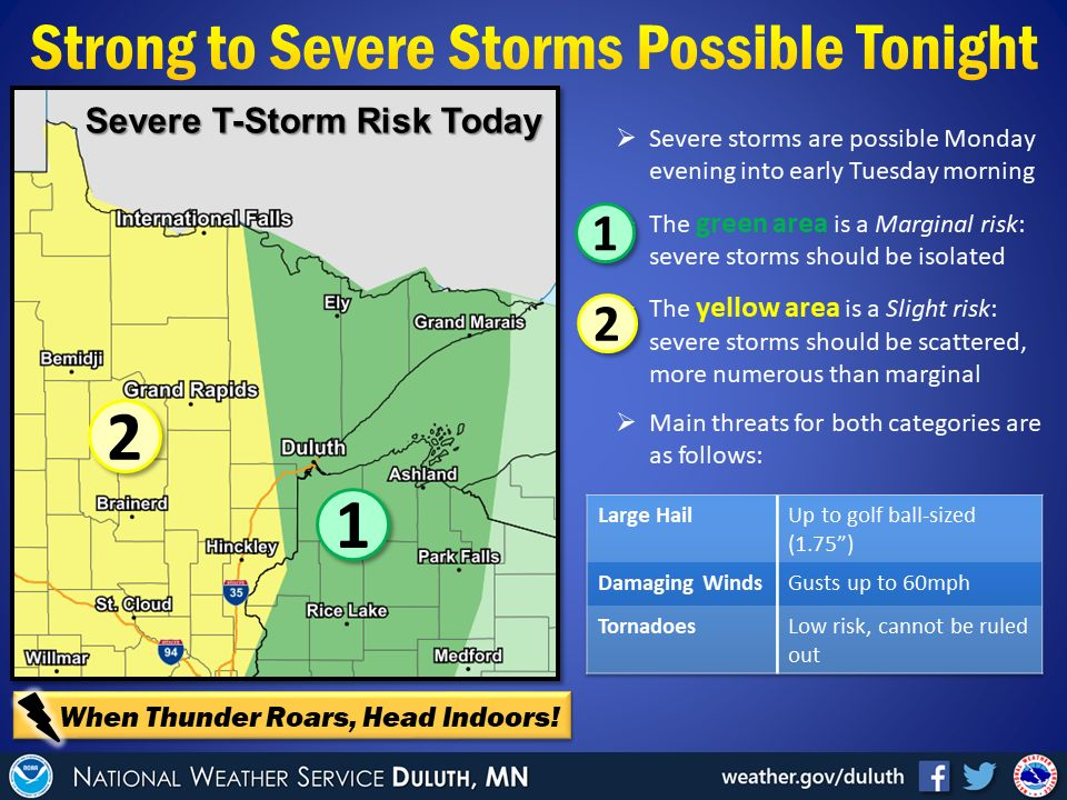 Severe weather possibility