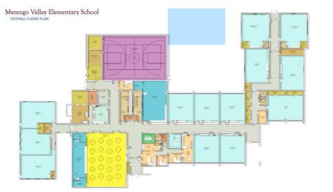 Marengo Valley School floor plan