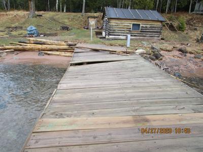 Docks damaged