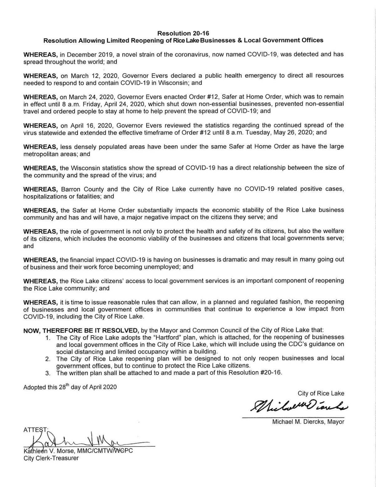 Resolution 20-16, Allowing Limited Reopening of RIce Lake Businesses and Local Govt Offices.Apr20.pdf