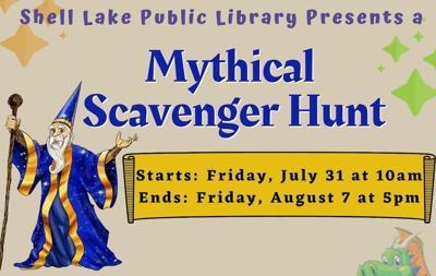 Mythical Scavenger Hunt starts at Shell Lake