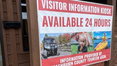 Washburn County visitor information kiosk