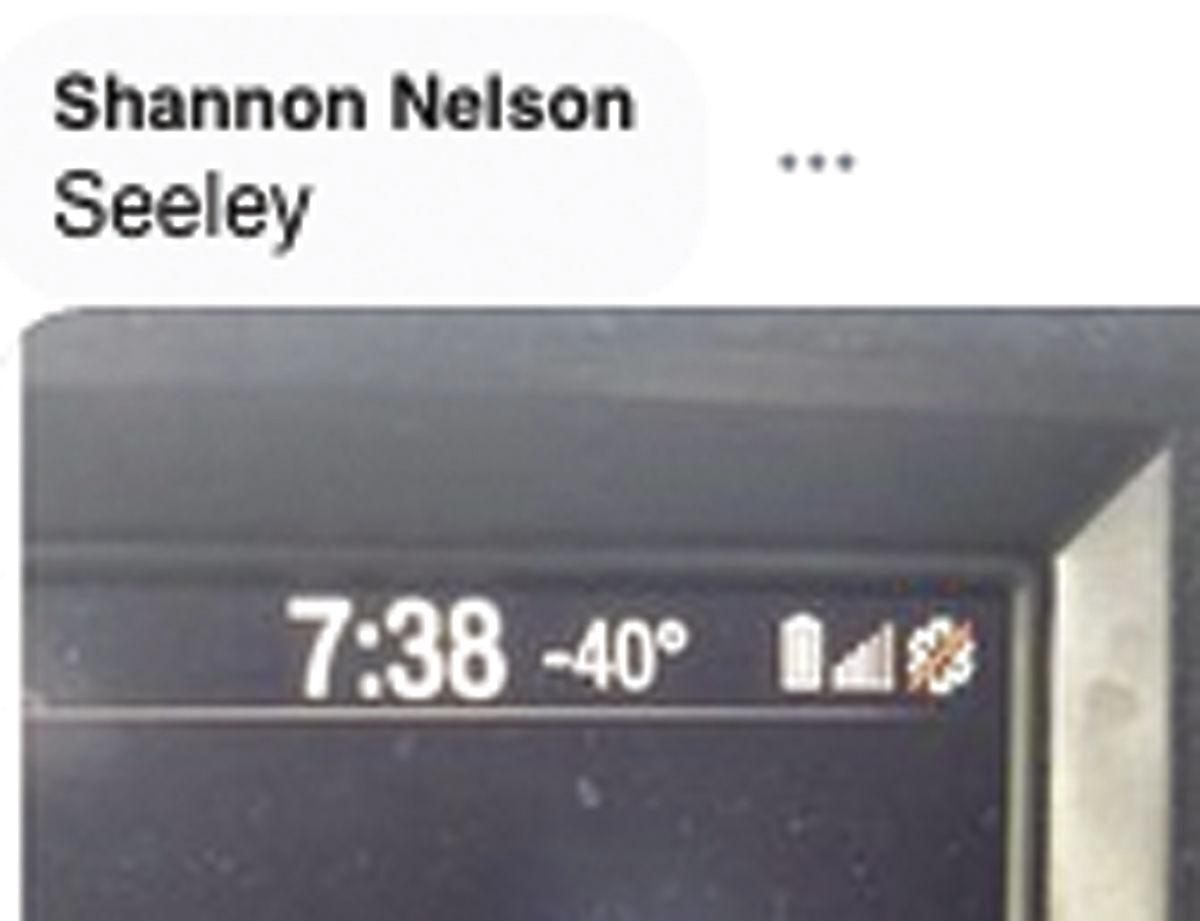 Yup, 40 below in Seeley