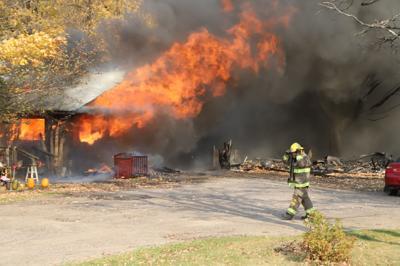 Fire destroys house on Hwy. B