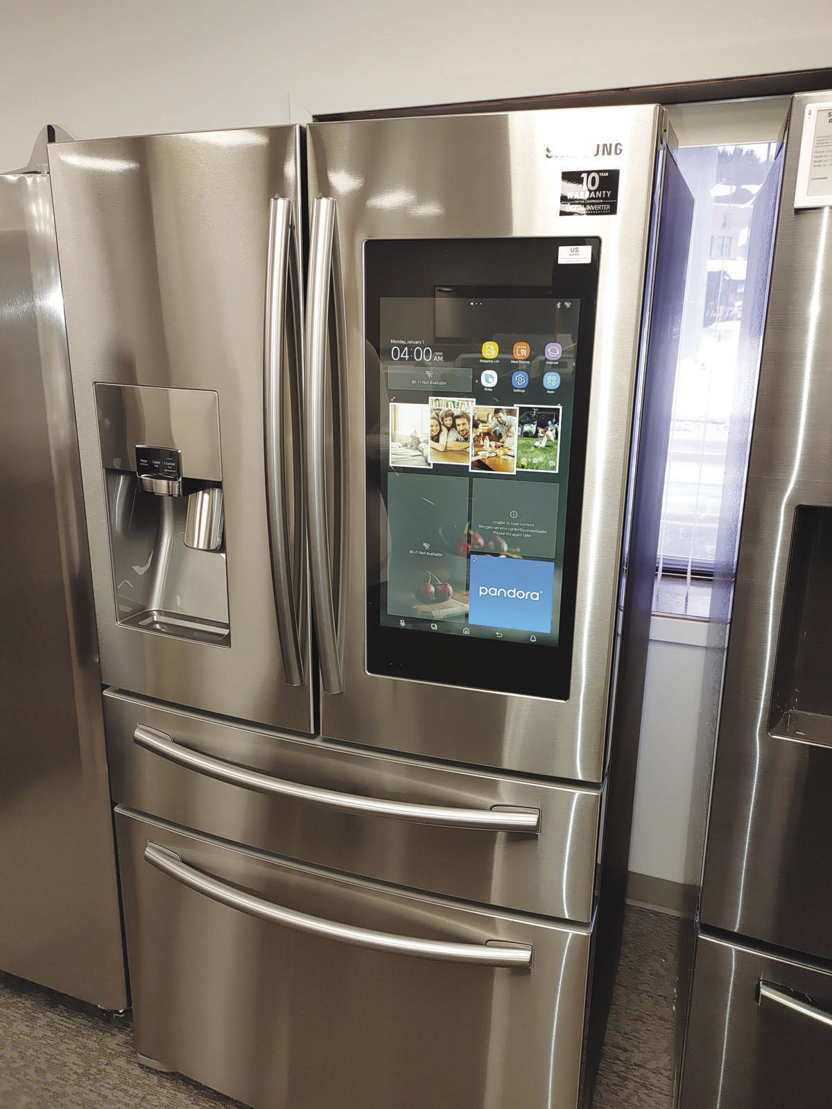 Samsung refigerator with tablet