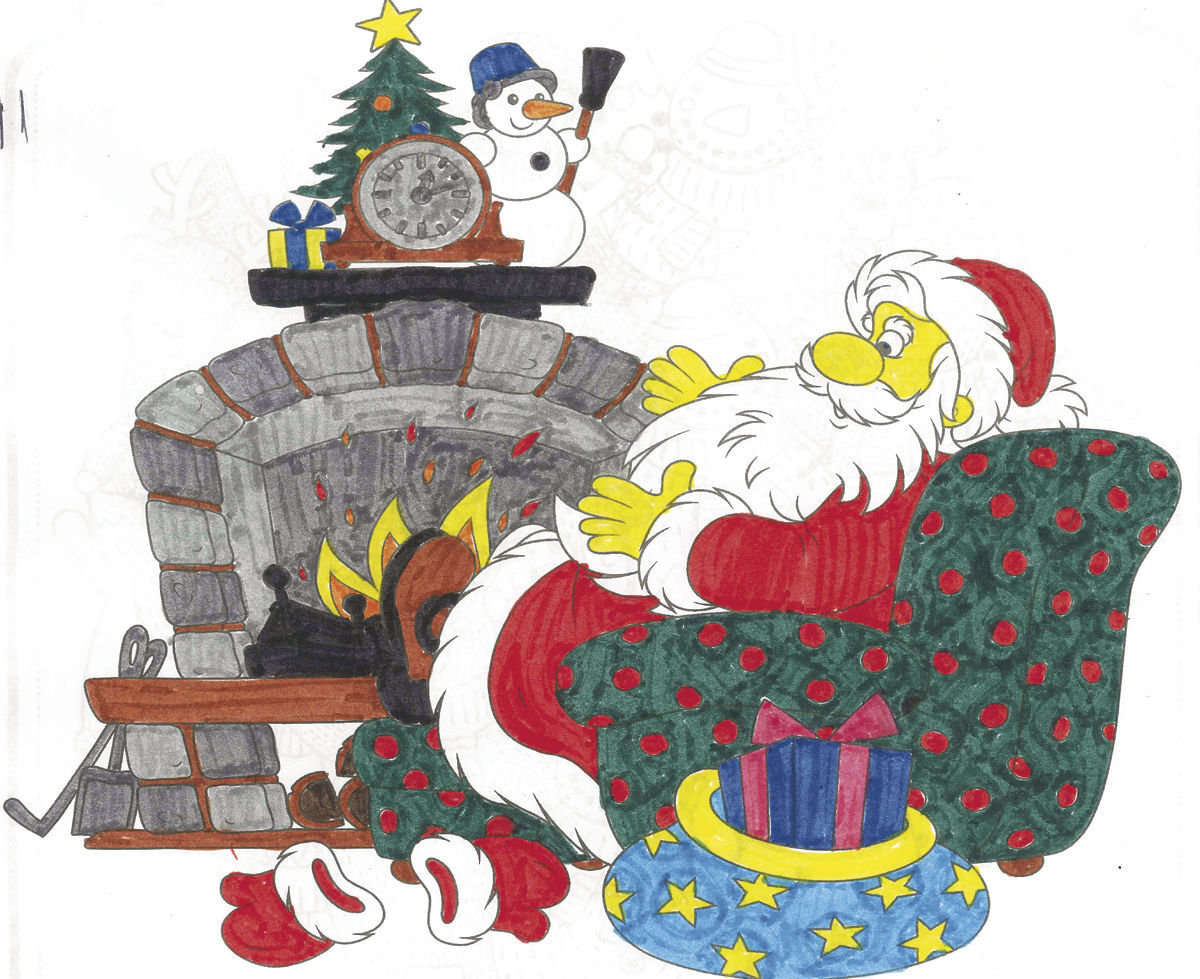 Sawyer County Record Holiday Coloring Contest Winner: Coloring by Alivia Beckwith