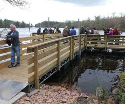 New handicap-accessible fishing pier dedicated on Big Chip