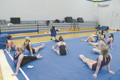 Rice Lake gymnastics first day of practice
