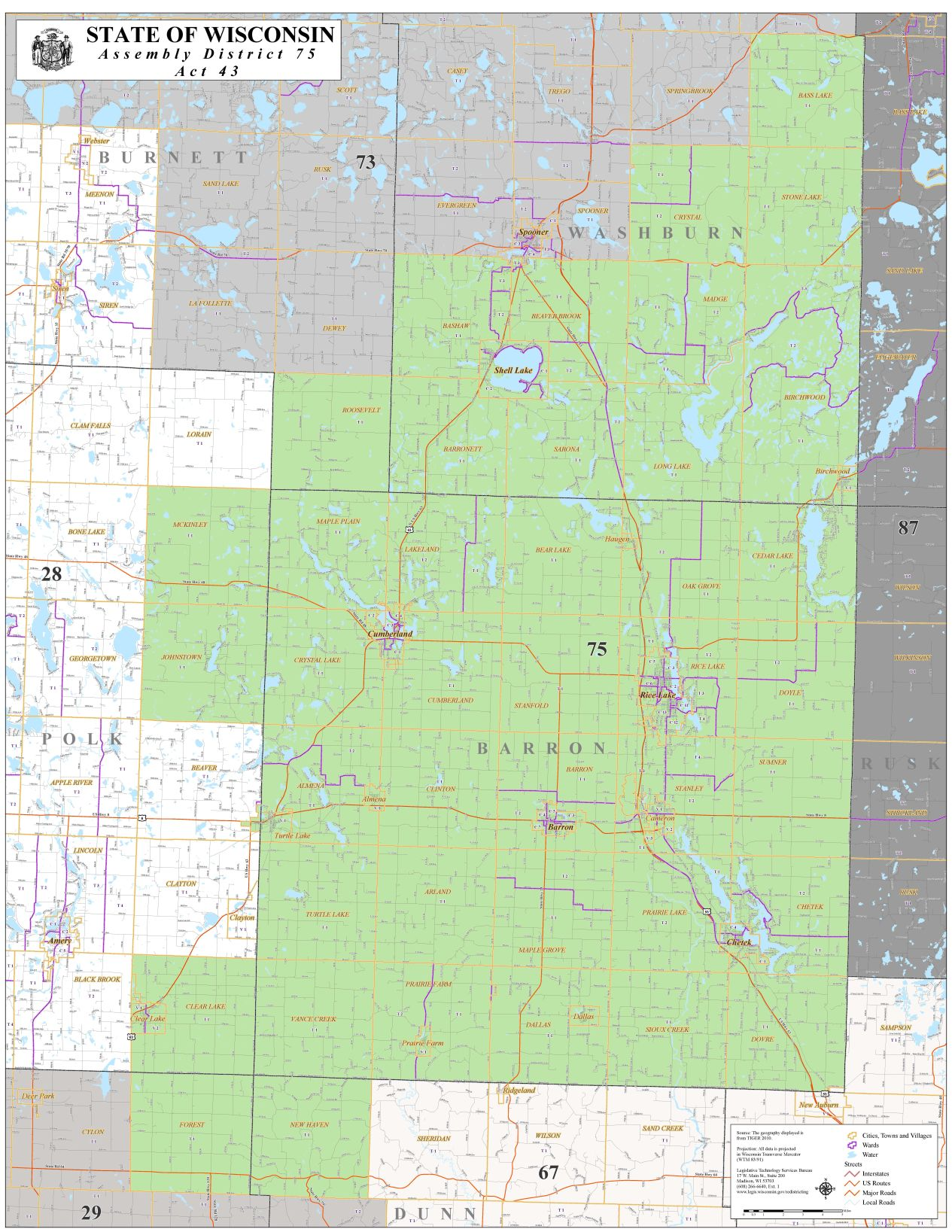 75th District Map