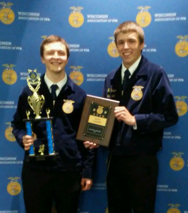 Winners from Barron County at State FFA Convention