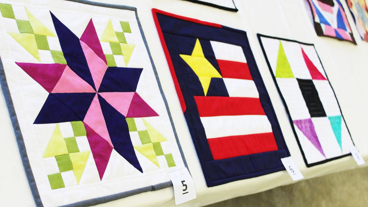 Top three quilt squares