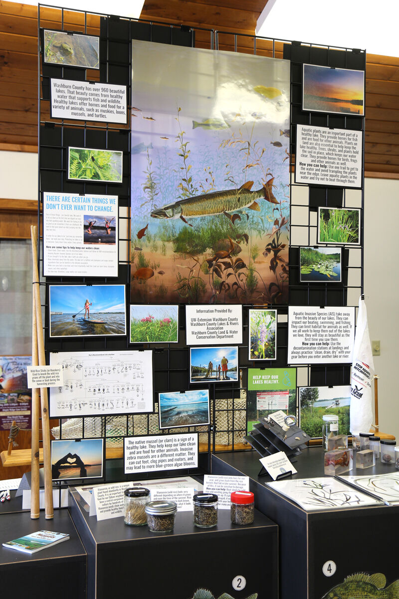 Part of the Tribute to the Lakes display at the Washburn County Visitor Center