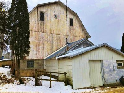 The former dairy barn on the Hardie farm is quiet.jpg