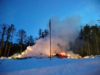 La Pointe fire hall fire