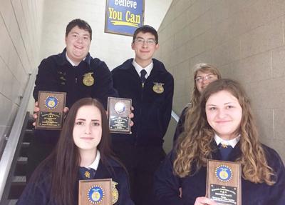 Ashland FFA competes in District 1 contest