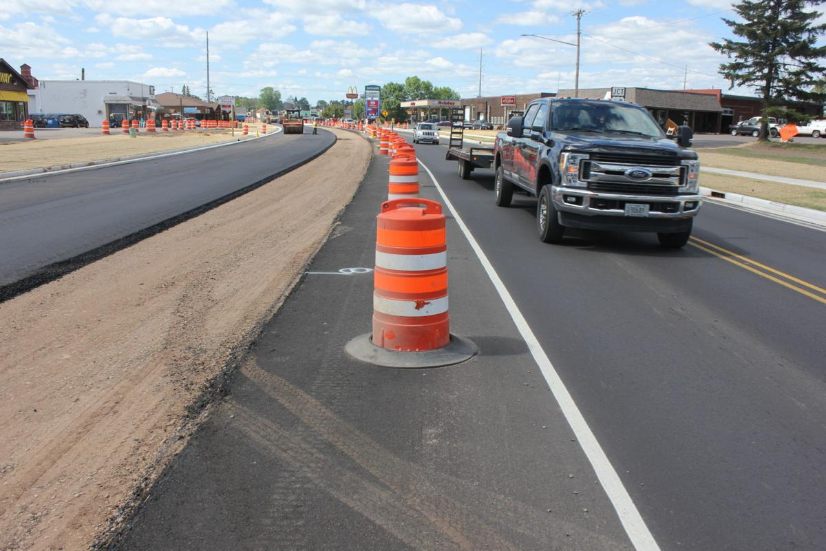 Eastbound lanes are getting paved