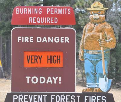 Fire danger warning