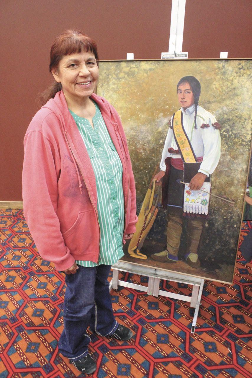 6-19 Northern Woodland Indian Art show - Carol Smith, LCO 'Woodland Ojibwa Man%22.jpg