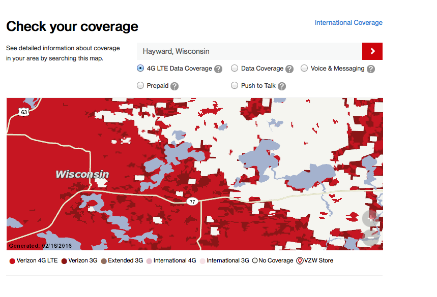 Spider Lake Residents Petition For Better Cell Phone Coverage - Verizon coverage map wisconsin