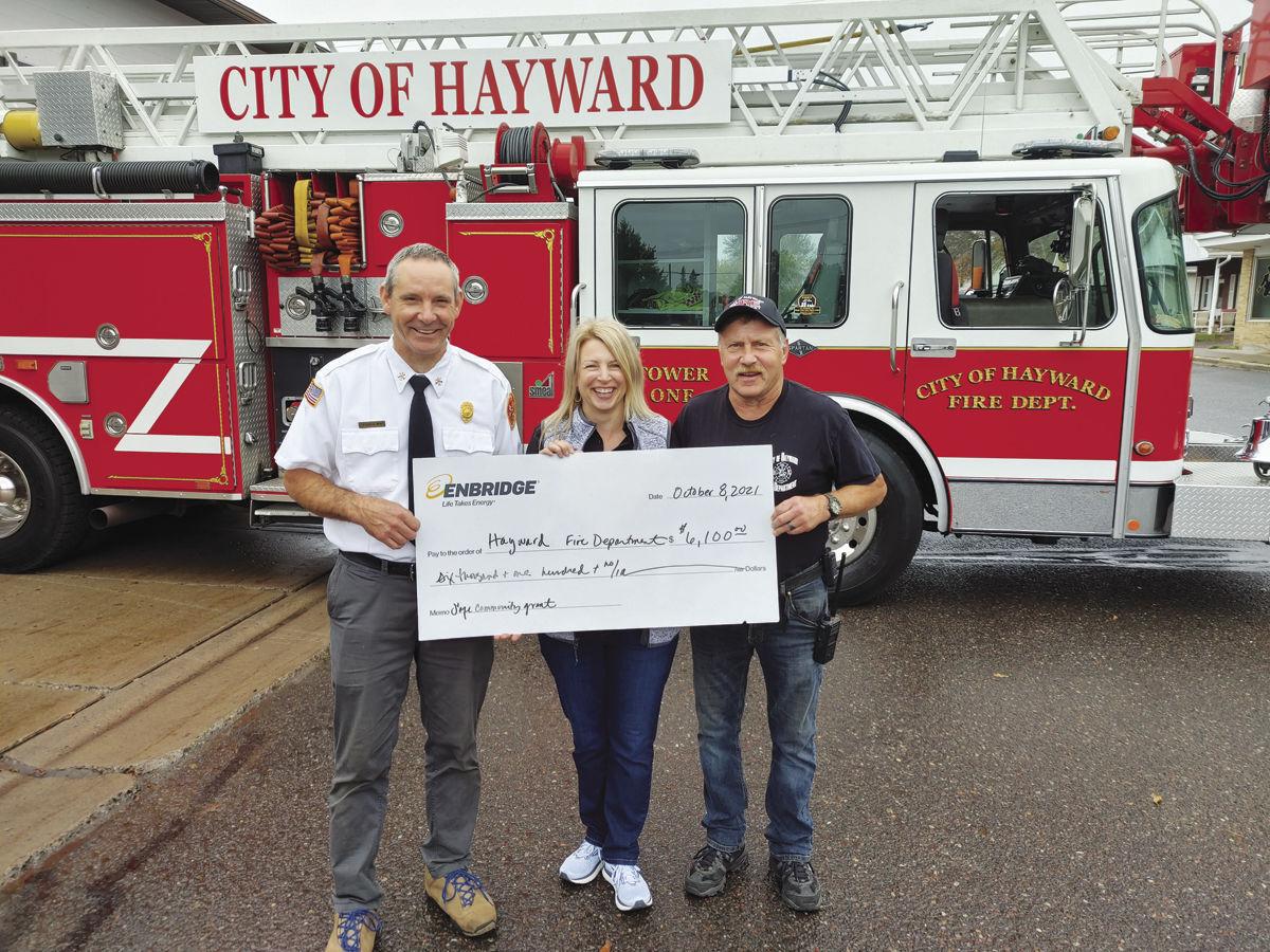 Hayward Fire Department receives Enbridge Safe Community Grant