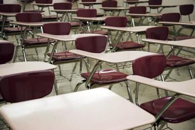 Desks, class, classroom
