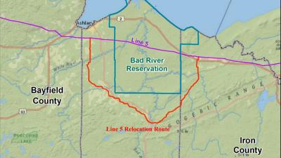 Enbridge line relocation