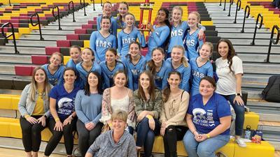 The 2020 IMS junior high cheer team