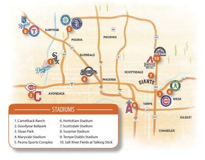 Cactus league map