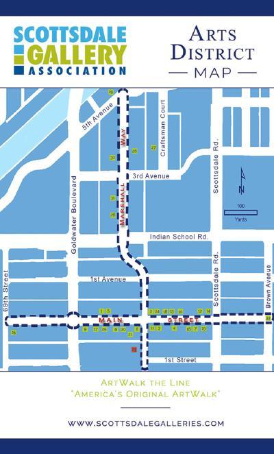 Scottsdale ArtWalk map